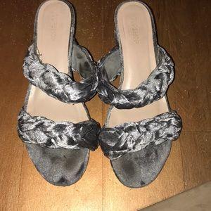 Shoes - Braided velvet Topshop sandals